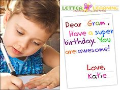 Great idea..traceable greeting cards
