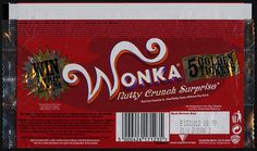 Keebler cookie wrappers | UK - Nestle - Wonka Nutty Crunch Surprise - candy bar wrapper - 2005