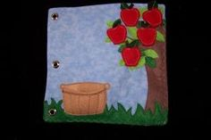 Apple tree quiet book page by Ed Rodonets