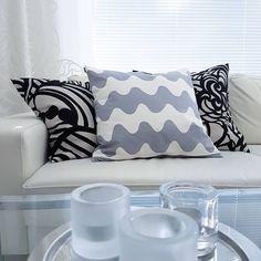 Interior Designer Kaisa Kallatsa - www. Marimekko, Scandinavian Design, Throw Pillows, Living Room, Interior Design, Instagram Posts, Projects, Home Decor, Nest Design