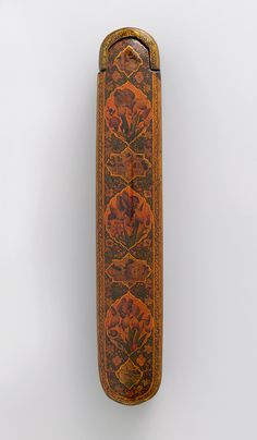 'Ali Ashraf (Iranian, active 1727–56). Pen box, A. H. 1156 / 1743–44 A.D. The Metropolitan Museum of Art, New York. Purchase, Patti Cadby Birch Gift, funds from various donors and Paul Anavian and Massoud Nader Gifts, 2008 (2008.246a,b) #iris #flower