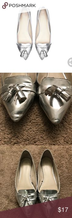 a920937dc7d7 Zara silver tassel loafers 10   41 Silver Zara flats size 41. I m