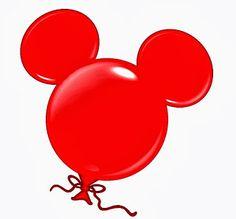 Imágenes de globos con forma de la cabeza de Mickey.