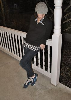 flats to flip flops:  Keeping it Casual: Hat, PINK Sweatshirt, skinny jeans, colored tennis shoes, gingham button down