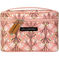 Petunia Pickle Bottom Travel Train Case Glazed Blissful Brisbane ($42) ❤ liked on Polyvore featuring beauty products, beauty accessories, bags & cases and petunia pickle bottom