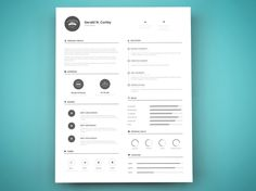 Artsy Resume Templates One Page Resume Template  Modern And Elegant Resume  Cover