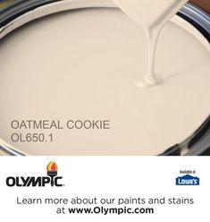OATMEAL COOKIE OL650.1 is a part of the oranges collection by Olympic® Paint. - http://home-painting.info/oatmeal-cookie-ol650-1-is-a-part-of-the-oranges-collection-by-olympic-paint/