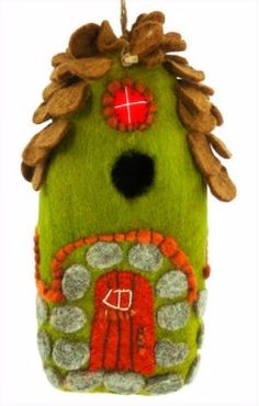 Provide a real nest site with this adorable and functional wool birdhouse! The Forest House is handcrafted, felted wool and hand-died yarns. It makes for a most unique gift, and nesting site for feath                                                                                                                                                      More