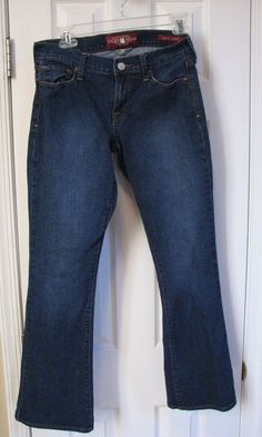 Lucky Brand Sofia Boot Women Blue Jeans 2/26 Ankle #LuckyBrand #BootCut