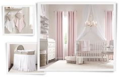Rooms | Restoration Hardware Baby & Child Like the white with the pink curtains and white netting