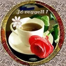 Animated Gif by Sz���±cs Ferenc Good Morning Coffee Cup, Good Morning Gif, Coffee Love, Coffee Cups, Tea Cups, Tableware, Roses, Catherine Klein, Animated Gif