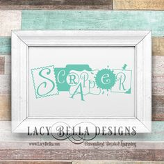 www.lacybella.com  Scrapper vinyl lettering home decor wall art decals hobby