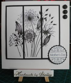 black and white . Going To Seed stamp by Woodware. Greeting by Lili Of The Valley. Card Making Inspiration, Making Ideas, Sister Cards, Craftwork Cards, Fathers Day Cards, Card Sketches, Watercolor Cards, Sympathy Cards, Paper Cards