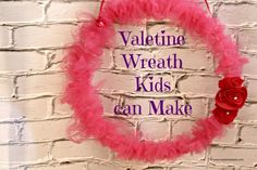 Fun and easy to make Valentine's Day wreath that kids can make