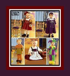 TODDLER RENAISSANCE WARDROBE-Designer Sewing Pattern-Five Styles-Princess-Prince-Huntsman-Ladies Maid-Jester-Hats-Toddler Sizes-Uncut-Rare by FarfallaDesignStudio on Etsy