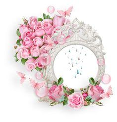 View album on Yandex. Rose Frame, Flower Frame, Flower Art, Heart Frame, Molduras Vintage, Scrapbook Frames, Framed Wallpaper, Birthday Frames, Kanzashi Flowers