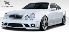 1998-2002 Mercedes CLK W208 Duraflex C63 Look Body Kit - 4 Piece - Includes C63 Look Front Bumper Cover (108054) C63 Look Side Skirts Rocker Panels (108055) C63 Look Rear Bumper Cover (108056)