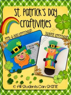 St. Patrick's Day Craftivities - Leprechauns! product from All-Students-Can-Shine on TeachersNotebook.com