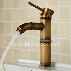Deck Mounted Antique Brass Wealth Bamboo Faucet Bathroom Vessel Sink Mixer Tap 2016 Factory Direct Brass Classic Design Style - AUD $65.19 ! HOT Product! A hot product at an incredible low price is now on sale! Come check it out along with other items like this. Get great discounts, earn Rewards and much more each time you shop with us!