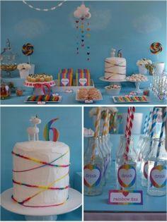 Rainbow birthday party ideas by TinyCarmen
