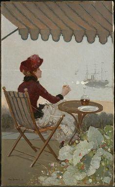 1884......CAFÉ AU BORD DE MER.........PARTAGE DE LE PEINTRE JEAN BERAUD...........SUR FACEBOOK..............