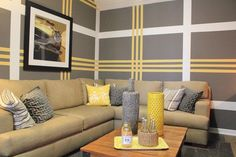 Interior Painting Diy Wall Colors interior painting ideas whole house. Painting Wood Paneling, Diy Wall Painting, Painting Stripes On Walls, Wall Paint Stripes, Painting Tips, Painting Patterns On Walls, Yellow Painting, Painting Techniques, Interior Paint Colors