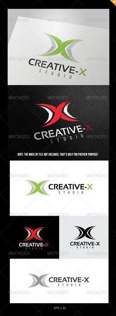 Creative X Logo — Vector EPS #audio #design • Available here → https://graphicriver.net/item/creative-x-logo/5408566?ref=pxcr