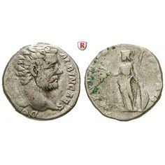 Römische Kaiserzeit, Clodius Albinus, Caesar, Denar 194, ss/f.ss: Clodius Albinus, Caesar 193-195. Denar 194 Rom. Kopf r. D CLOD… #coins