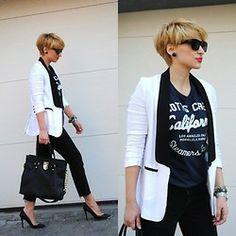 Menswear for women - tuxedo jacket