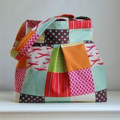 Echino Red Planes Fabric Pleated Hobo Handbag / Purse. $52.00, via Etsy.