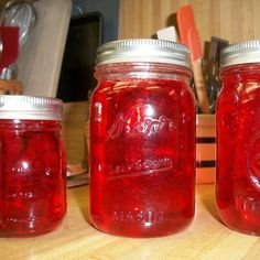 """This is SO good and SO easy!  If you like apple jelly, this is a nice twist on the """"usual"""" apple jelly.  The red-hots cinnamon candies give it a little extra flavor boost that you will surely love!  Also, this is about the PRETTIEST jelly I have ever made - a beautiful, brilliant red color!"""