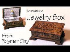 Miniature Jewelry/Music Box - Polymer Clay Tutorial - YouTube
