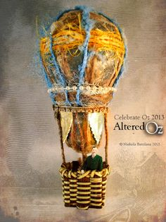 Altered Oz light bulb hot air balloon - Nichola Battilana