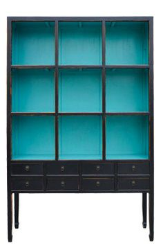 Zoe Cabinet in Aquamarine eclectic bookcases cabinets and computer armoires and other furniture & decor products. Furniture Makeover, Home Furniture, Furniture Design, Eclectic Bookcases, Painted Bookshelves, Turquoise Cabinets, Computer Armoire, Casa Clean, Painted Furniture