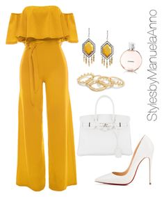 """Untitled #138"" by stylesbymanuelaanno on Polyvore featuring WithChic, Christian Louboutin, Hermès and Chanel"