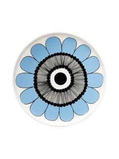 Oiva/Kestit plate by Marimekko. Special Edition for Stockmann. Marimekko, Kitchenware, Home Appliances, Plates, Diy, House Appliances, Licence Plates, Dishes, Griddles