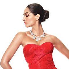 Buy sonamkapoor red dress ONLY @ http://www.follo.in/starshop/products/sonam-kapoor/women-red-dress/481577 Bollywoodkafashion FolloStarshop
