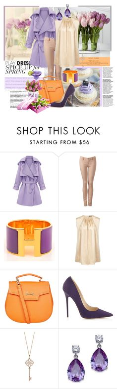 """The 8th of March! A time of romance"" by julia-kesar ❤ liked on Polyvore featuring Balmain, Victoria Beckham, Forever New, Hermès, Joseph, Harrods, Jimmy Choo and Tiffany & Co."