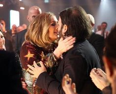 Adele and Simon at the 'BRIT Awards 2016'