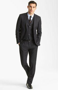 Dark grey 3 piece suit | Wedding | Pinterest | 3 piece suits