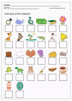 Alfabetização Amanda e Lucas Preschool Printables, Preschool Worksheets, Teaching Kids, Kids Learning, Hebrew School, Free To Use Images, Lettering Tutorial, Toddler Books, Speech Language Therapy