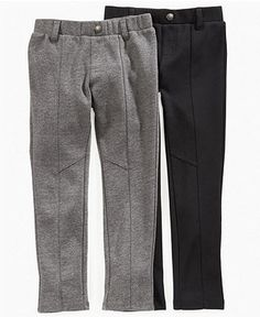 DKNY Kids Pants, Girls Seamed Ponte Pants - Kids Girls 7-16 - Macy's