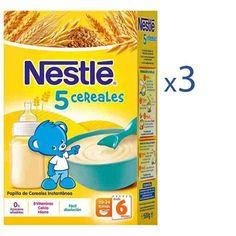 La papilla Nestle 5 cereales es ideal para complementar la alimentación con cereales a partir de los 6 meses. Elaborada con cereales hidrolizados que favorecen la digestión del bebé.