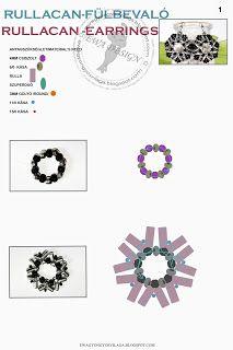 Ewa gyöngyös világa!: Rullacan fülbevaló minta / Rullacan earrings pattern