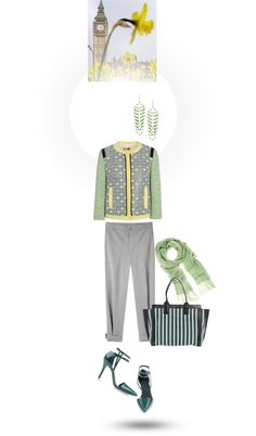 """A lovely spring day in London today"" by mrs-box ❤ liked on Polyvore"