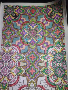 Desenho colorido pela leitora Sandra Sousa | Livros de #Colorir #Arte-terapia
