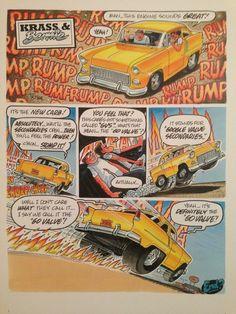 George Trosley and CARtoon Magizine Cartoon Car Drawing, Cartoon Art, Cartoons Magazine, Cool Car Drawings, Bell Art, Magazine Pictures, Adult Cartoons, Big Daddy, Automotive Art