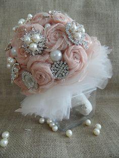 Bridal bouquet Bridal accessories rose bouquet pink by WEDDINGHome, $200.00