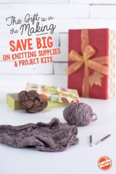 Dreaming up ideas for great gifts you can't wait to give? Have some fun, indulge in your creativity and bring them all to life with BIG savings on knitting kits, yarn and knitting notions! Shop the Gift Is in the Making Sale by Monday, October 12th and get all the ingredients for something great at up to 60% off.