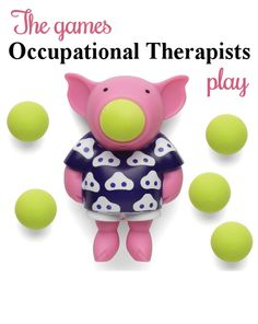 Pig Popper - Adapting every day games and toys for use in therapy. See hundreds of ideas at The Playful Otter (OTR).